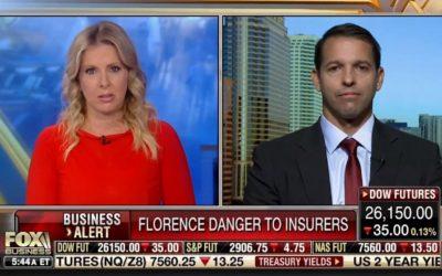 Ian King on Fox Business News – Hurricane Florence Insurance Losses & Stocks