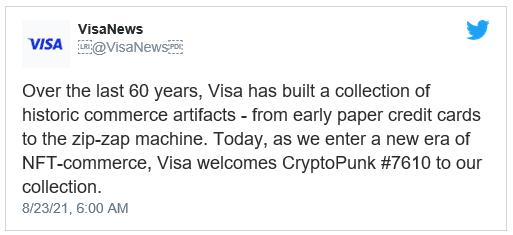 visa buys cryptopunk nft for $150,000 ethereum